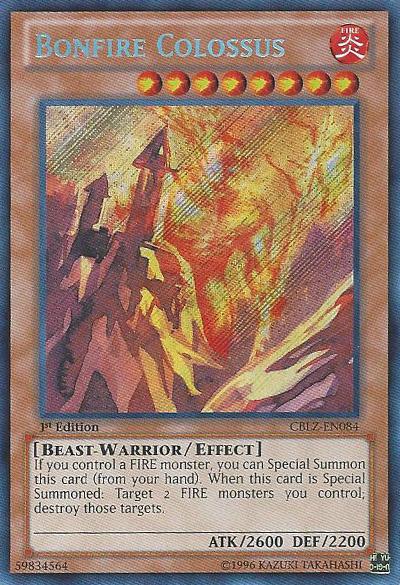Bonfire Colossus - CBLZ-EN084 - Secret Rare - Unlimited Edition