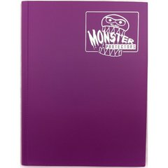 Monster Protectors 9 Pocket Matte Coral Purple Binder