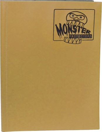 Monster Protectors 9 Pocket Matte Gold Binder