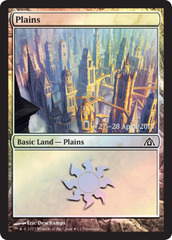 Plains - Dragon's Maze Implicit Maze Foil - Prerelease Promo