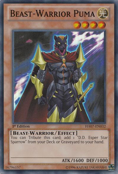 Beast-Warrior Puma - HA07-EN032 - Super Rare - 1st