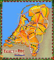 Ticket to Ride: Holland (fan expansion for Ticket to Ride)