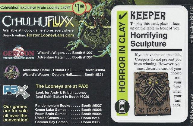 Cthulhu Fluxx Horrifying Scripture Promo Card