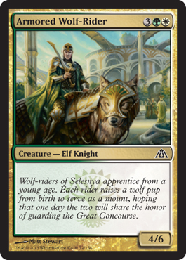 Armored Wolf-Rider - Foil