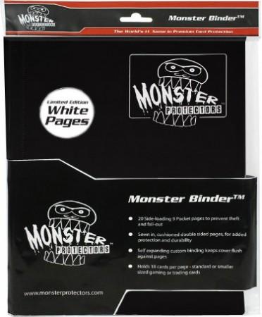 9-Pocket Monster Binder - Black w/ White pages