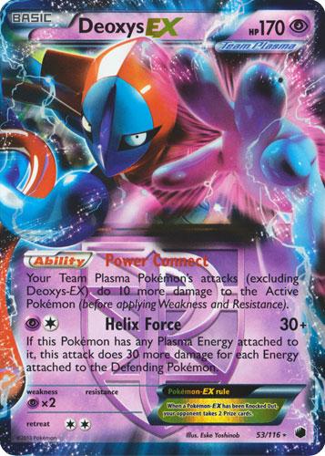Deoxys-EX - 53/116 - Rare Holo EX - Pokemon Singles