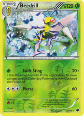 Beedrill - 3/116 - Rare - Reverse Holo on Channel Fireball