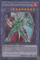 Elemental HERO Shining Phoenix Enforcer - LCGX-EN139 - Secret Rare - Unlimited Edition