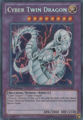 Cyber Twin Dragon - LCGX-EN180 - Secret Rare - Unlimited Edition