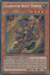Gladiator Beast Darius - LCGX-EN244 - Secret Rare - Unlimited Edition