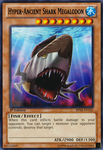 Hyper-Ancient Shark Megalodon - BP02-EN121 - Rare - 1st
