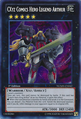 CXyz Comics Hero Legend Arthur - NUMH-EN042 - Secret Rare - 1st Edition