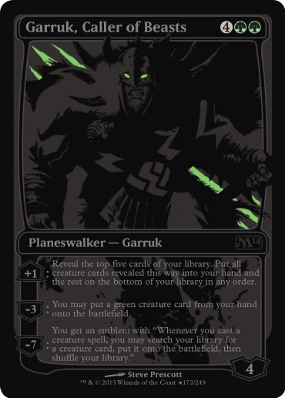 Garruk, Caller of Beasts - SDCC 2013 Exclusive Promo