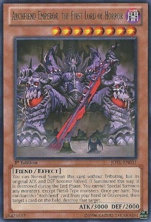 Archfiend Emperor, the First Lord of Horror - JOTL-EN031 - Rare - 1st Edition