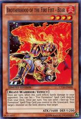 Brotherhood of the Fire Fist - Bear - CT10-EN008 - Super Rare - Limited Edition on Channel Fireball