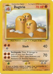 Dugtrio - 19/102 - Rare - Unlimited Edition