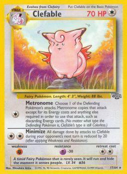 Clefable - 17/64 - Rare - Unlimited Edition