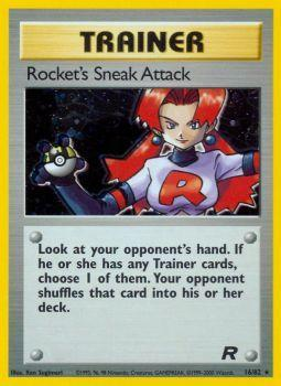Rockets Sneak Attack - 16/82 - Holo Rare - Unlimited Edition