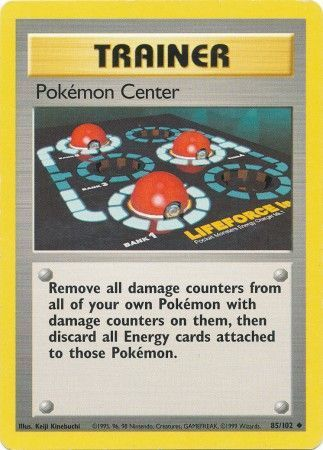 Pokemon Center - 85/102 - Uncommon - Unlimited Edition