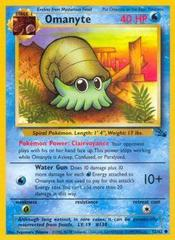 Omanyte - 52/62 - Common - Unlimited Edition on Channel Fireball