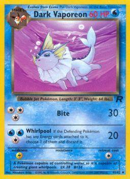 Dark Vaporeon - 45/82 - Uncommon - Unlimited Edition