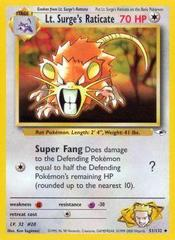 Lt. Surge's Raticate - 51/132 - Uncommon - Unlimited Edition