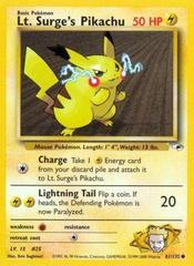 Lt. Surge's Pikachu - 81/132 - Common - Unlimited Edition