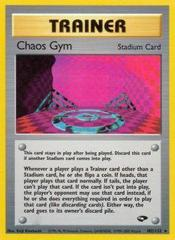 Chaos Gym - 102/132 - Rare - Unlimited Edition on Channel Fireball