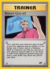 Blaine's Quiz #2 - 111/132 - Uncommon - Unlimited Edition