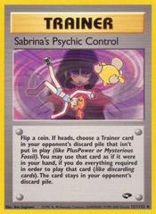 Sabrina's Psychic Control - 121/132 - Uncommon - Unlimited Edition