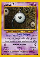 Unown [P] - 58/105 - Uncommon - Unlimited Edition on Channel Fireball