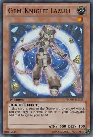Gem-Knight Lazuli - HA07-EN039 - Super Rare - Unlimited Edition