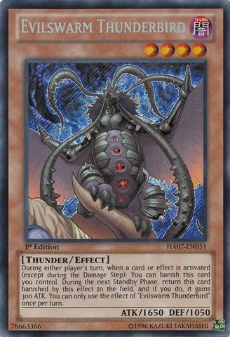 Evilswarm Thunderbird - HA07-EN051 - Secret Rare - Unlimited Edition