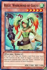 Reeze, Whirlwind of Gusto - HA06-EN012 - Super Rare - Unlimited Edition