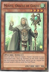 Musto, Oracle of Gusto - HA06-EN045 - Super Rare - Unlimited Edition