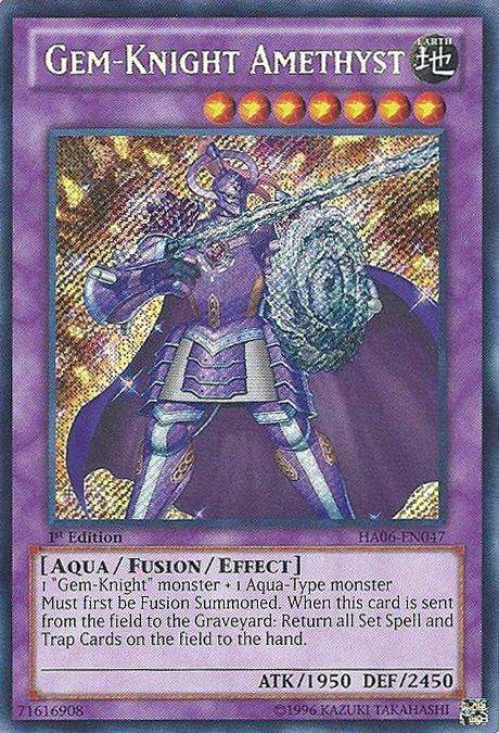 Gem-Knight Amethyst - HA06-EN047 - Secret Rare - Unlimited Edition