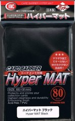 KMC Hyper Mat Black Sleeves (80ct)