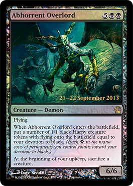 Abhorrent Overlord - Foil - Prerelease Promo
