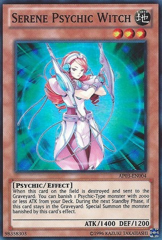 Serene Psychic Witch - AP03-EN004 - Super Rare - Unlimited Edition