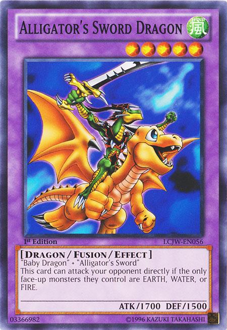 Alligator's Sword Dragon - LCJW-EN056 - Common - 1st Edition