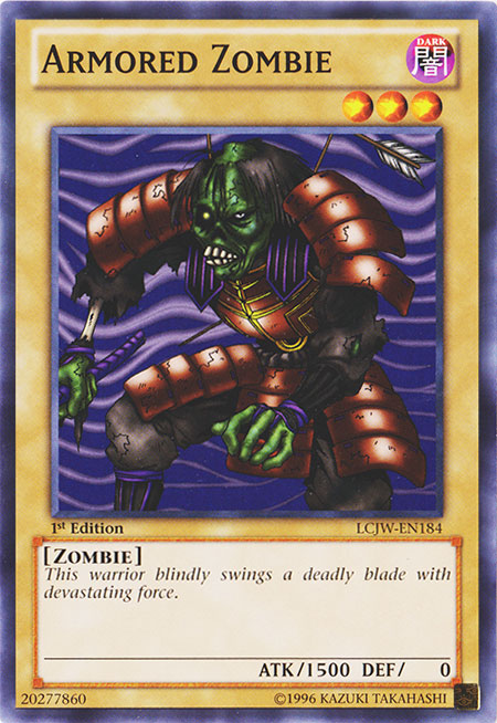 Armored Zombie - LCJW-EN184 - Common - 1st Edition