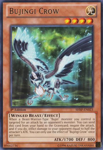 Bujingi Crow - SHSP-EN023 - Rare - 1st Edition