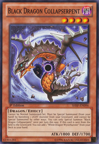 Black Dragon Collapserpent - SHSP-EN096 - Common - 1st Edition