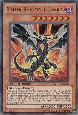 Malefic Red-Eyes B. Dragon - MOV2-EN001 - Ultra Rare - Limited Edition