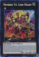 Number 54: Lion Heart - NUMH-EN026 - Secret Rare - Unlimited