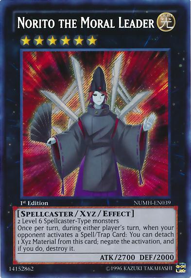 Norito the Moral Leader - NUMH-EN039 - Secret Rare - Unlimited
