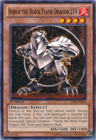 Horus the Black Flame Dragon LV4 - YSKR-EN019 - Common - 1st Edition