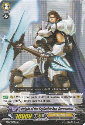 Knight of the Explosive Axe, Gornement - BT10/043EN - C