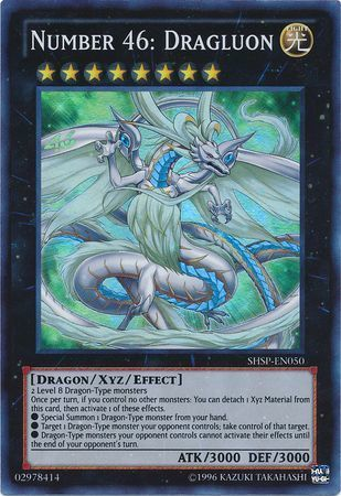 Number 46: Dragluon - SHSP-EN050 - Super Rare - Unlimited Edition