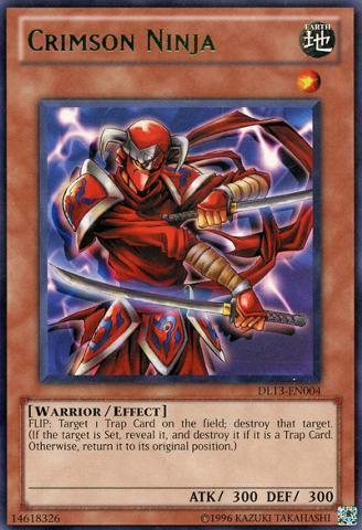 Crimson Ninja - Green - DL13-EN004 - Rare - Unlimited Edition